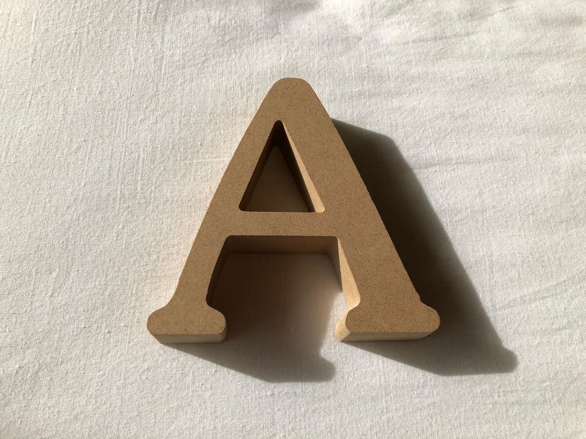 ダイソーで買ったアルファベットの置物
